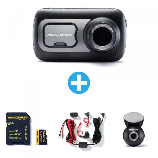 NEXTBASE Dashcam 522GW + 32GB + Hardwire Kit + Rückmodul