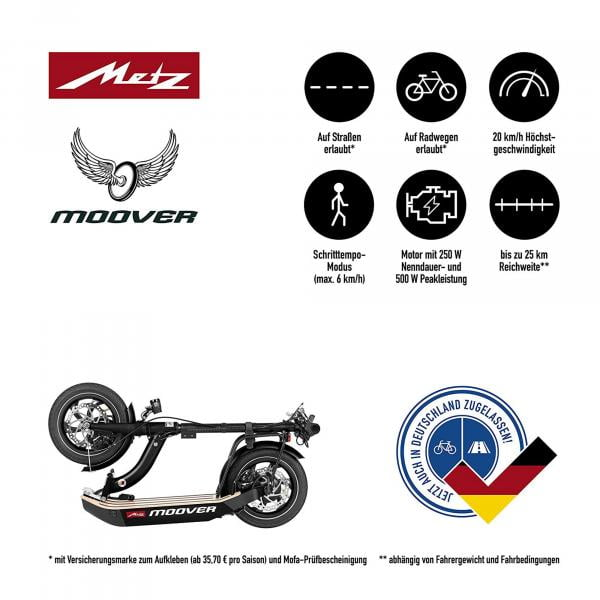 Metz moover black E-Scooter